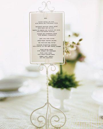 menú original bodas